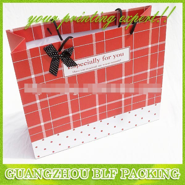 Custom High Quality Paper Bag Shopping (BLF-PB001)