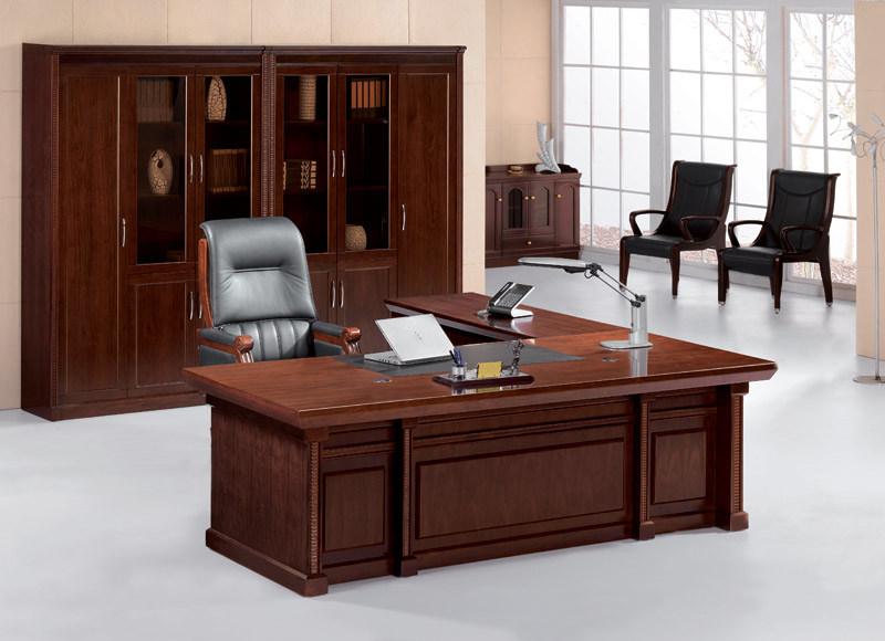 new design wood office table picture
