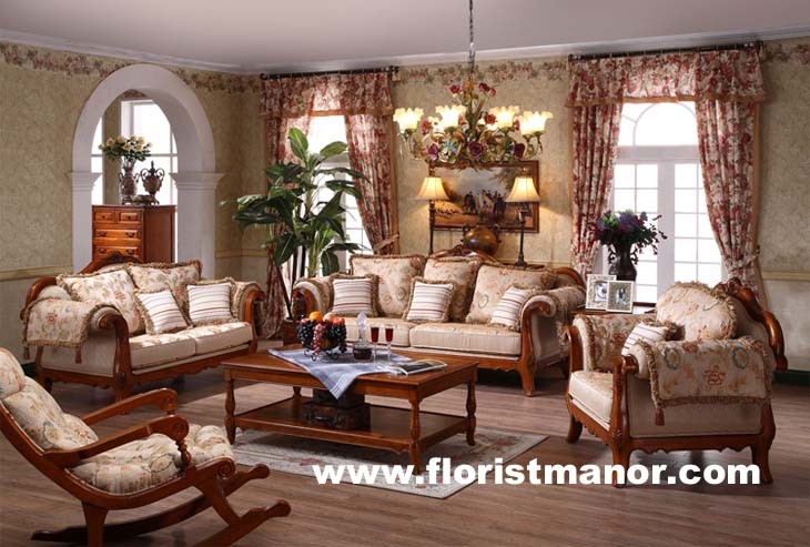 Drawing room sofa sets for drawing room for Wood living room furniture
