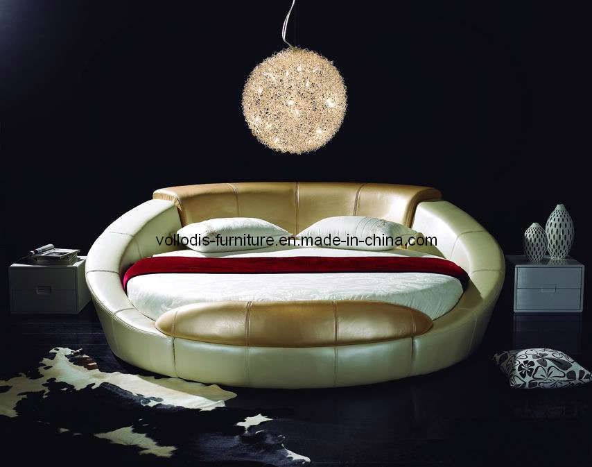 china round leather bed v27 china bed mattress