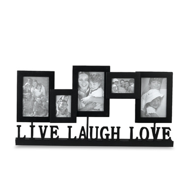 Love Collage Picture Frames on Live  Laugh  Love Standing 5 Photo Collage Frame  Mmw026    China Wood