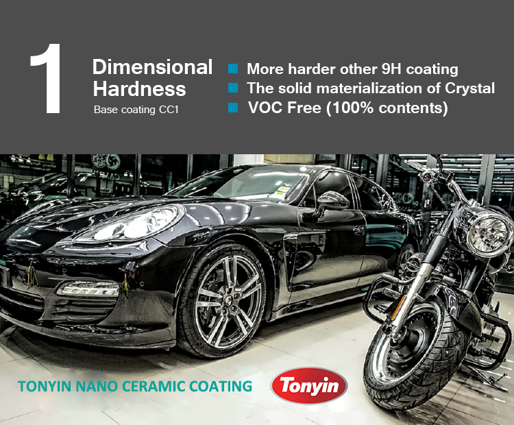 9h Hardness Nano Ceramic Coating with Super Water Repellent