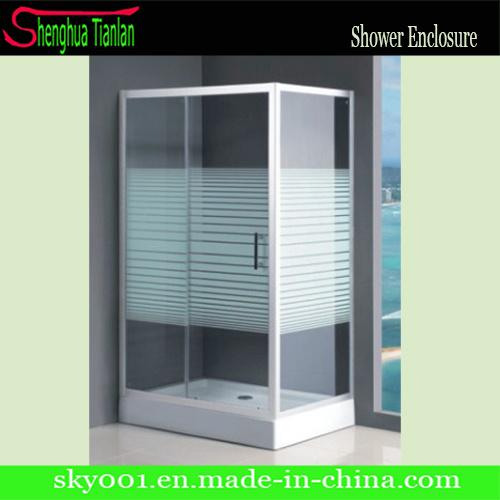 PVC Prefab Prefabricated Modular Glass Shower Bathroom (TL-506)