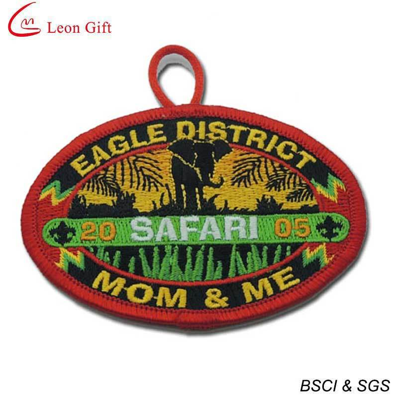 100% Embroidery Badge Iron on Embroidery Patches (LM1568)