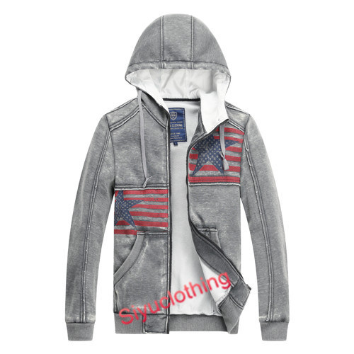 Mens 100%Cotton Hoodie National Flag Pattern Sweater (J-1624)