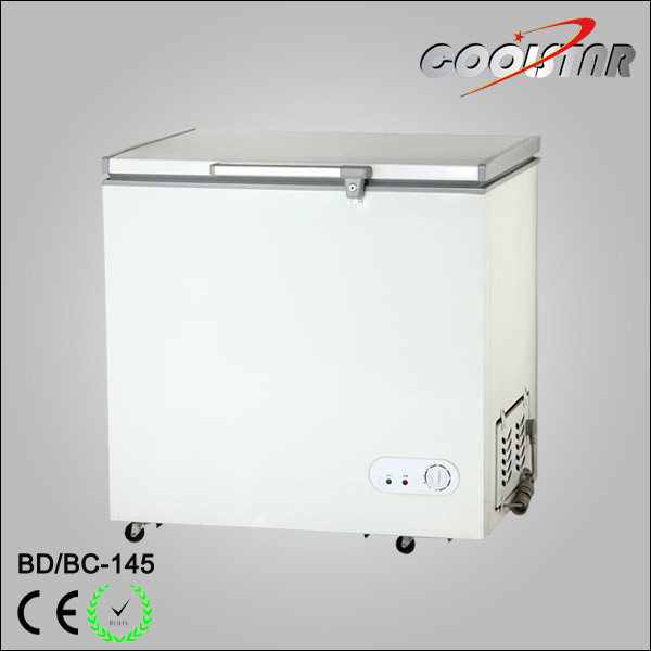 Mini Supermarket Single Top Open Foaming Door Chest Freezer