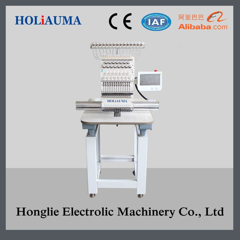 Newest Computerized Embroidery Machine Single Head for Cap/T-Shirt/Flat/3D/ Towel Embroidery