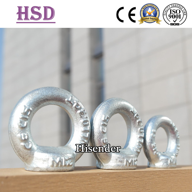 Zinc Plated DIN580 Eye Screw Bolt for Rigging Lifting
