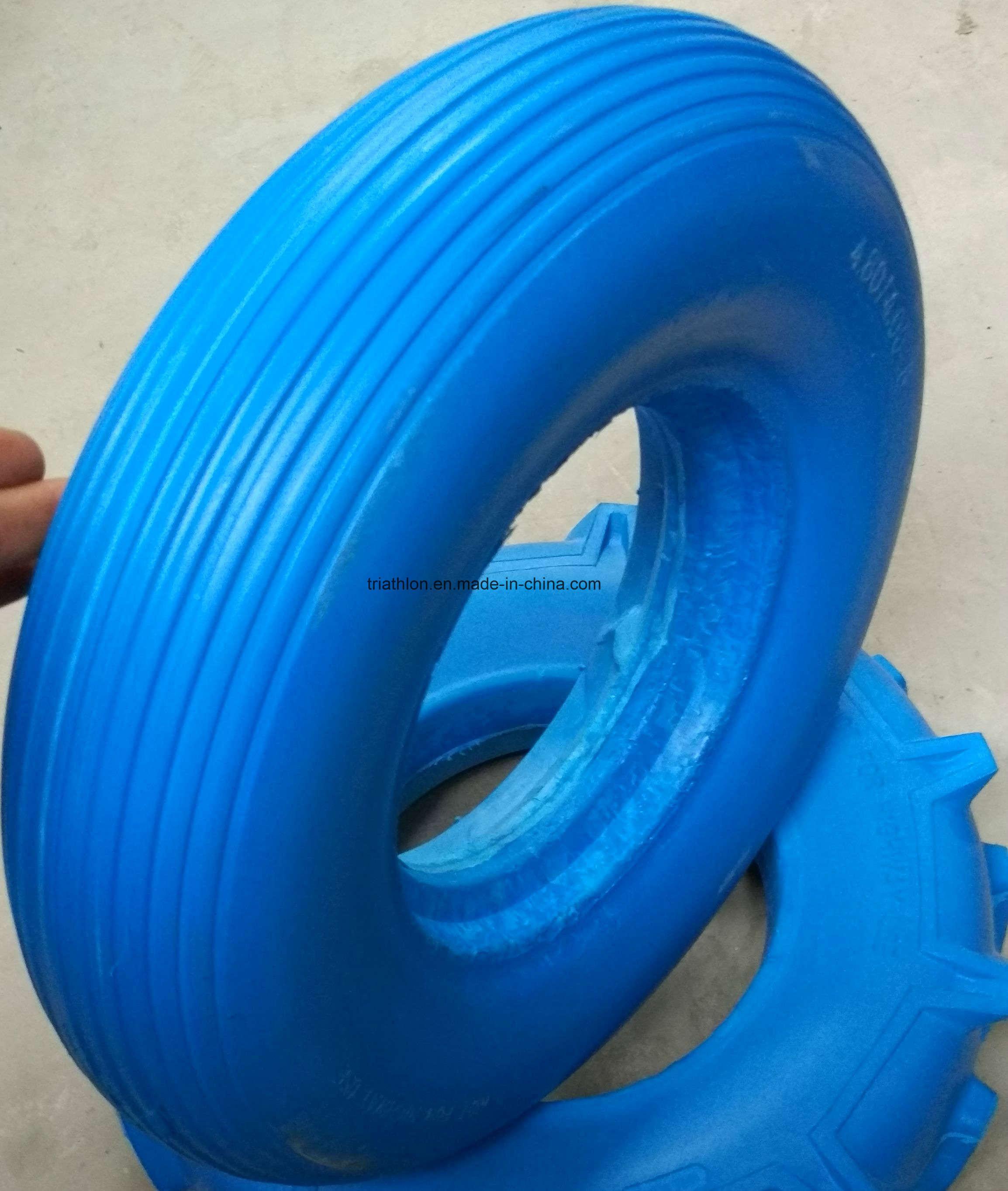 16X4.00-8 Wheelbarrow Foam Tire and Steel Wheel