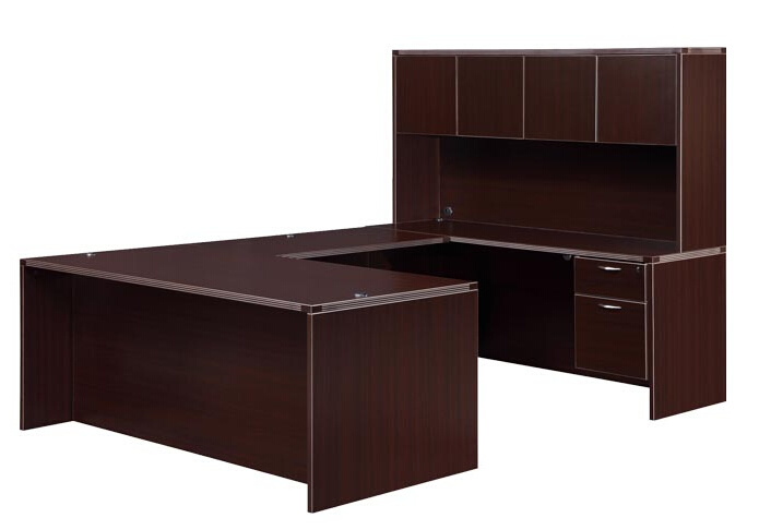 Modern High Quality MFC Board Office Furniture Hutch with Door