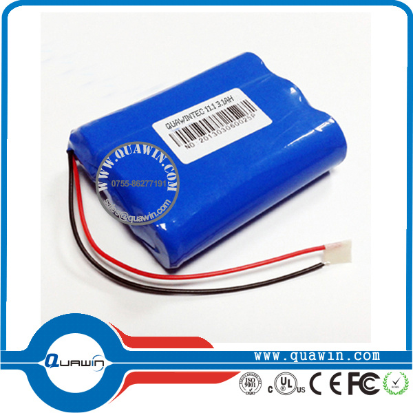 11.1V 3000mAh 18650 Battery Pack Li-ion Batteries