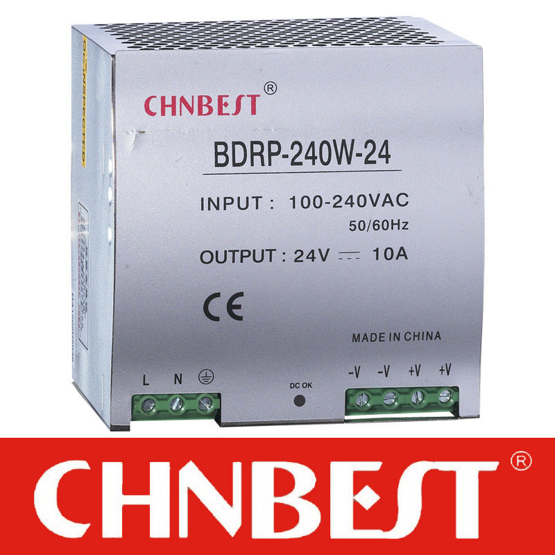 36VDC 240W with Pfc Function DIN-Rail Power Supply (DRP-240-36)