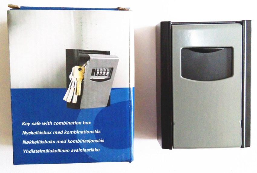 Key Safe Box, Combination Lock, 4-Digits Key Holder Box, Al-280