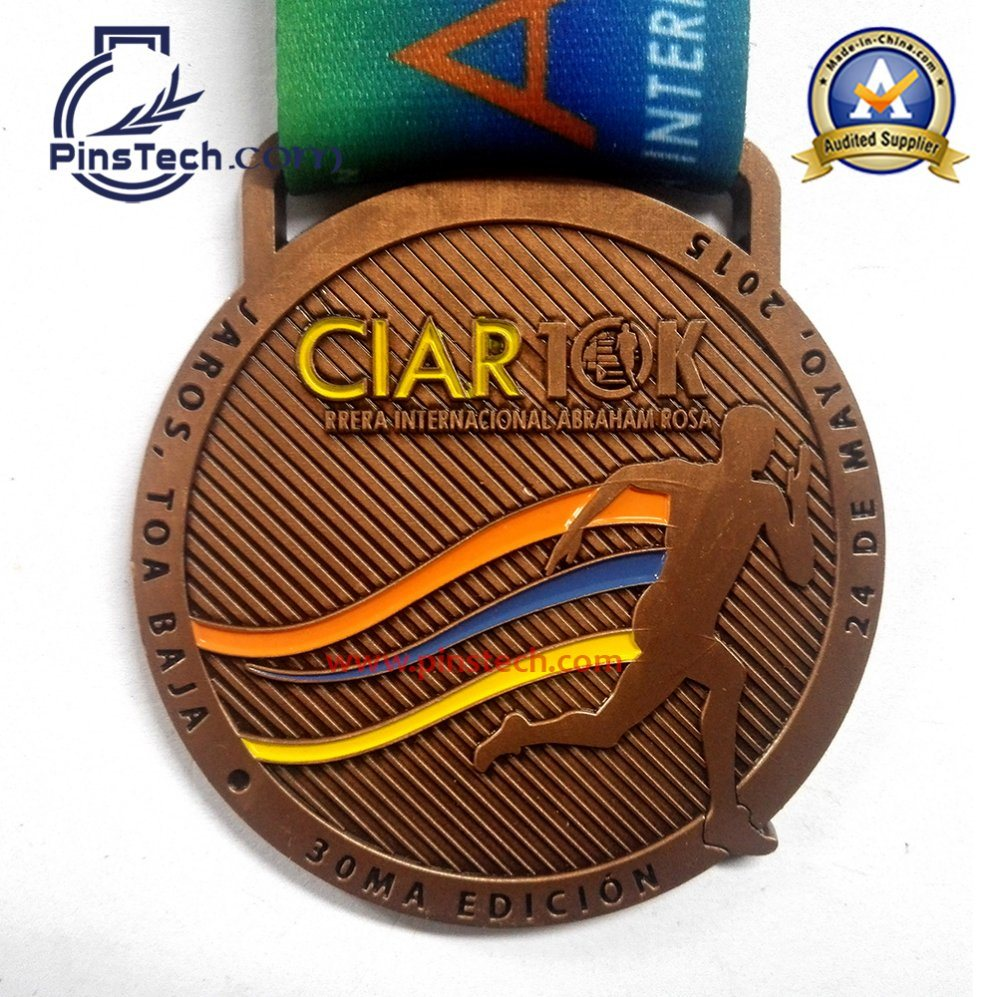 Soccer Sports Medal with Soft Enamel Color Filling