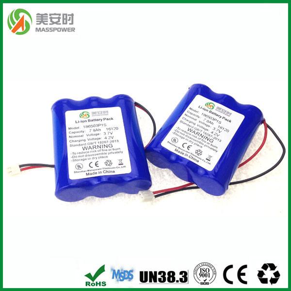 Long Life Lithium 3.7V 7800mAh Battery
