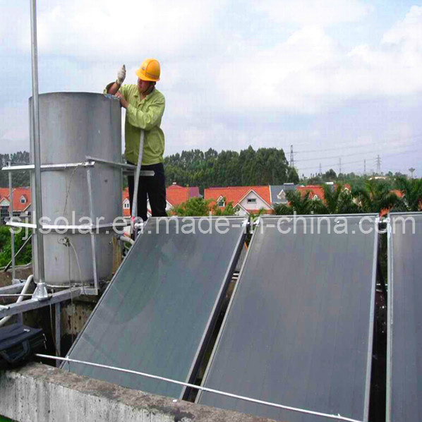 Diy solar water heater system with flat plate solar heat for Diy solar collector