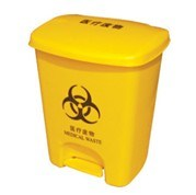 Sanitary Plastic Garbage Bin with Pedal (FS-80025)