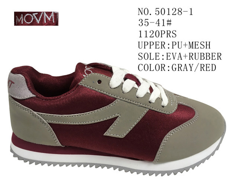 No. 50128 Two Colors Mesh Lady Casual Stock Shoes Cheap Price