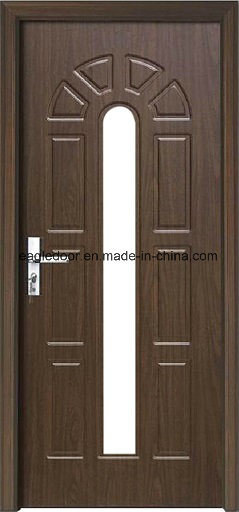 Economical Interior Wooden Rounded MDF PVC Door (EI-P089)