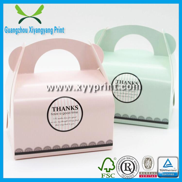 Custom White Kraft Paper Cake Packaging Box