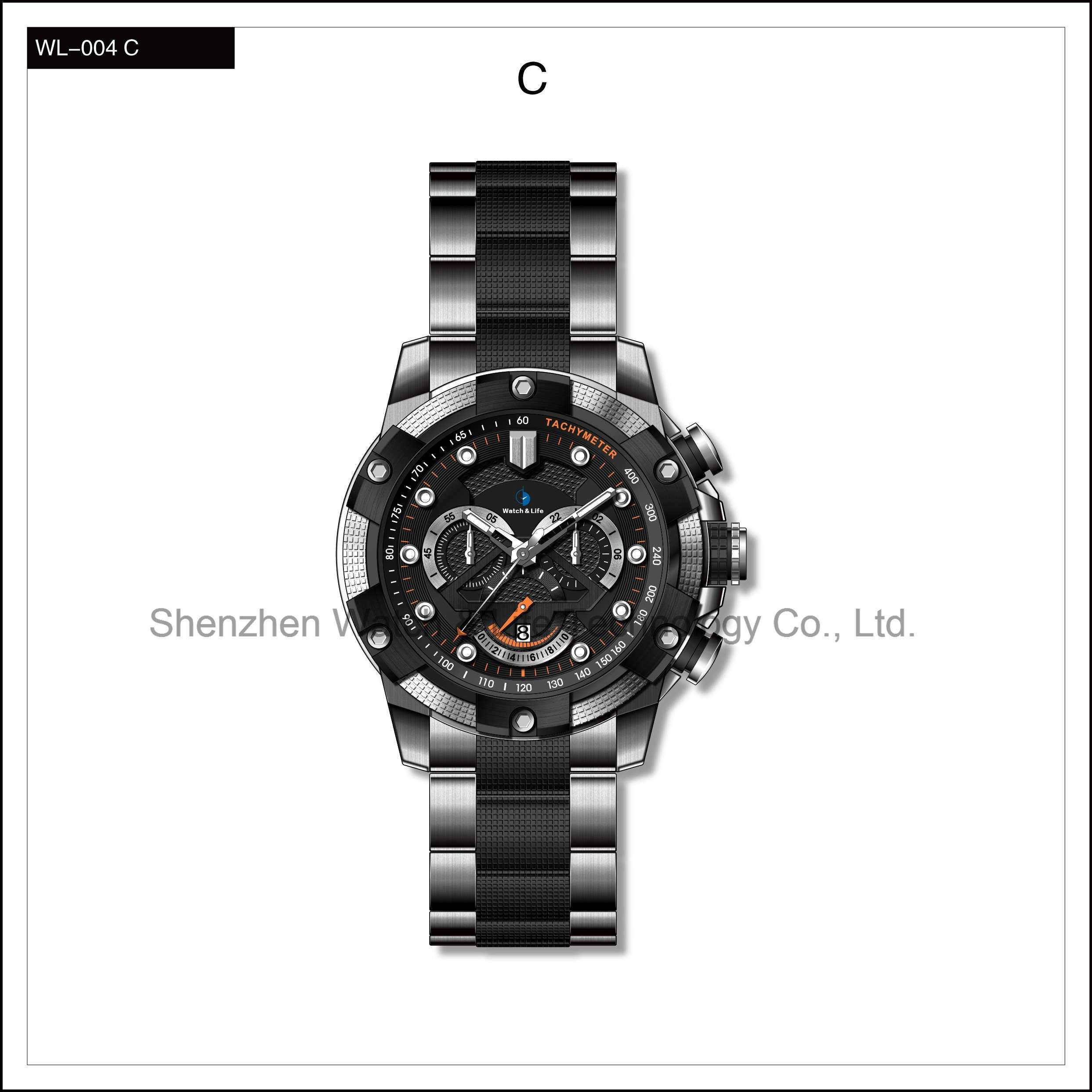Heavy High Quality Sport Watch Stainless Steel Men′s Automatic Watch Wrist Watch