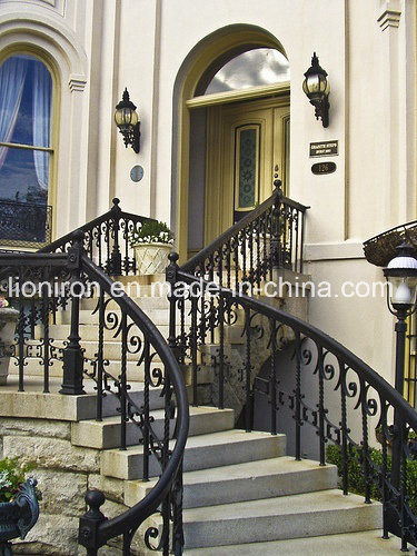 2017 Artistic Wrought Iron Stair Railing for Villa