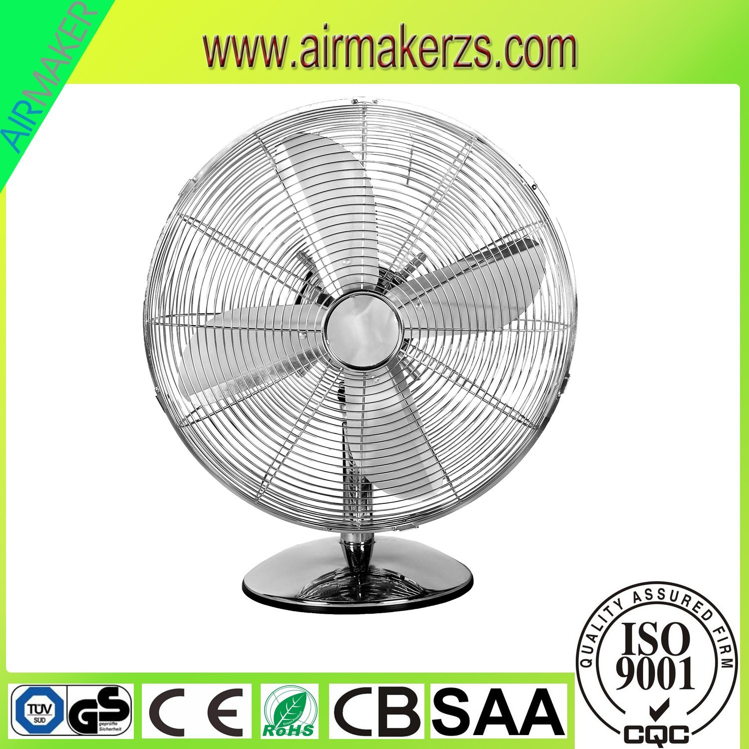 "12"" Golden Classical and Elegant Decorative Electric Table Fan"