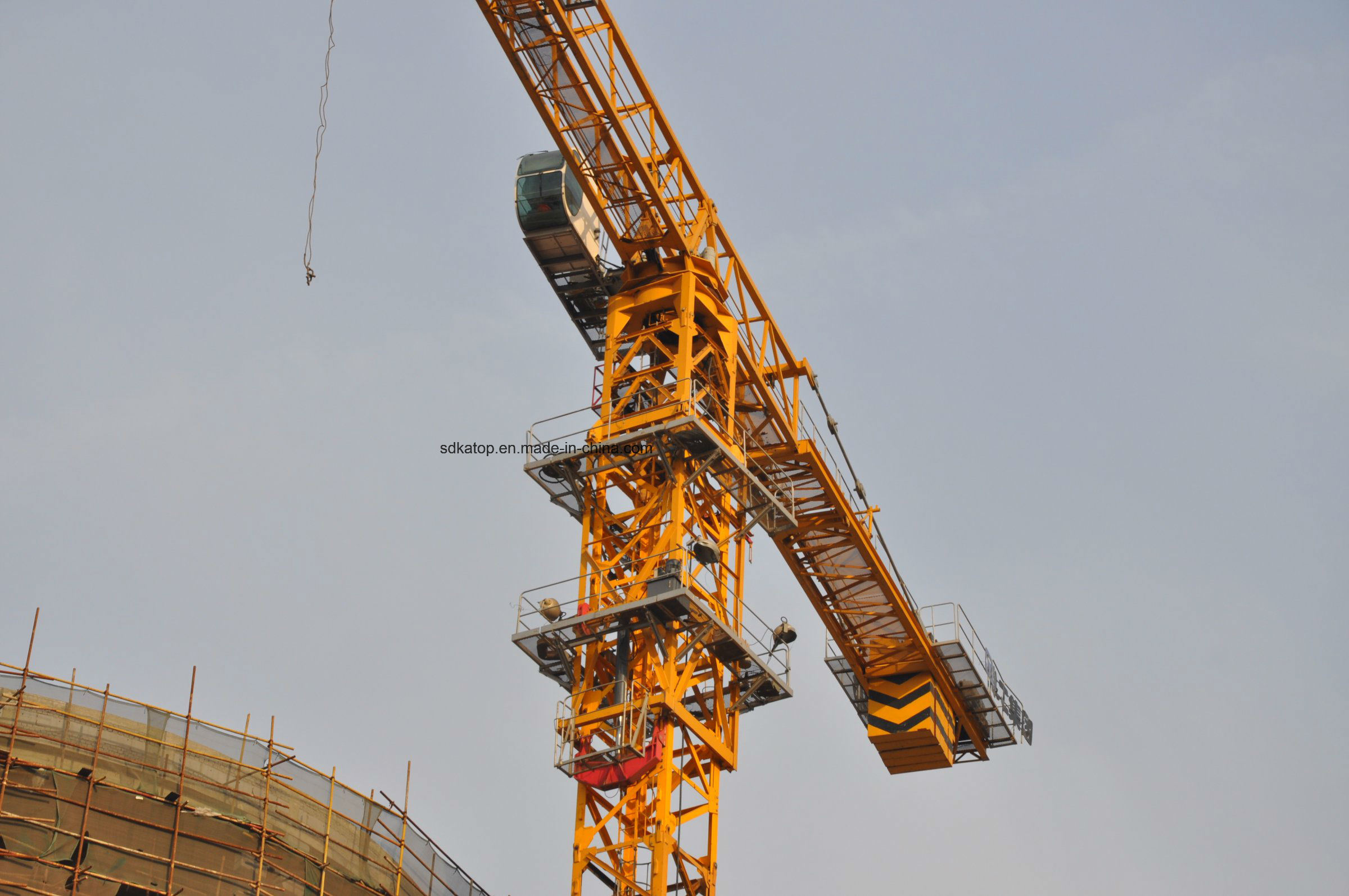 Qtz80 Series Topless 6t Load Tower Crane PT5610 Export