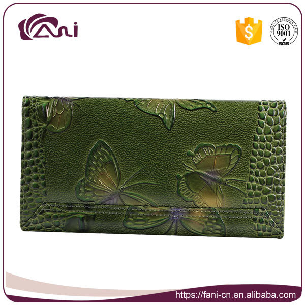Fani Green Color Multipurpose Fashion Women Purse Wallet for Ladies