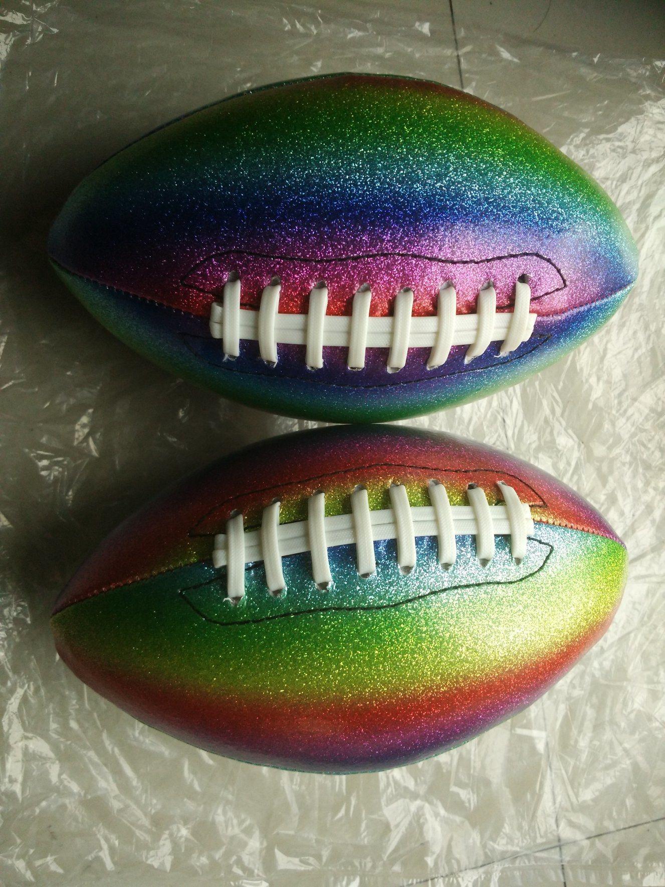 1# PVC Machine Stitching Flash American Football