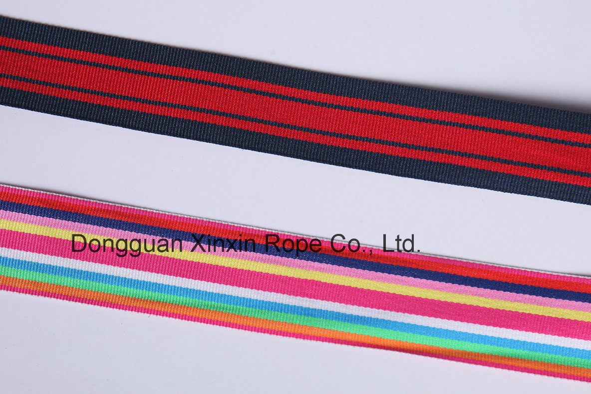 Hot Customize Binary Color Jacquard Webbing for Wrapped Box Handle