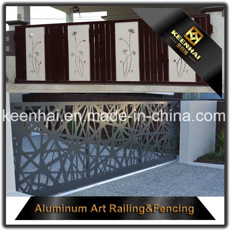 Decorative Laser Cut Perforated Sheet Metal Aluminum Garden Fence