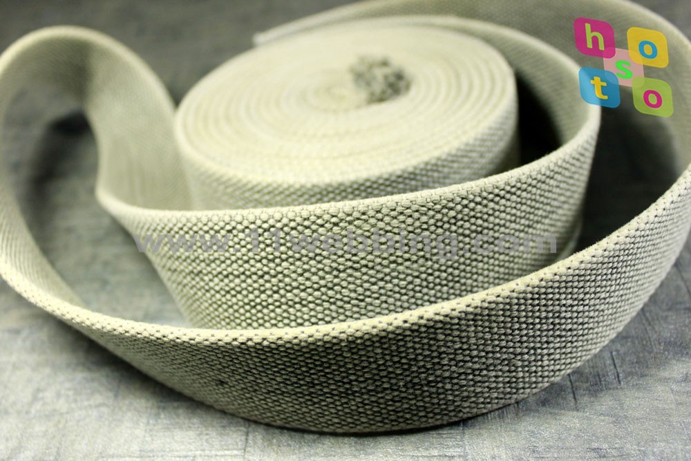 Washed Vintage 100% Cotton Webbing for Belt and Garment Accessories