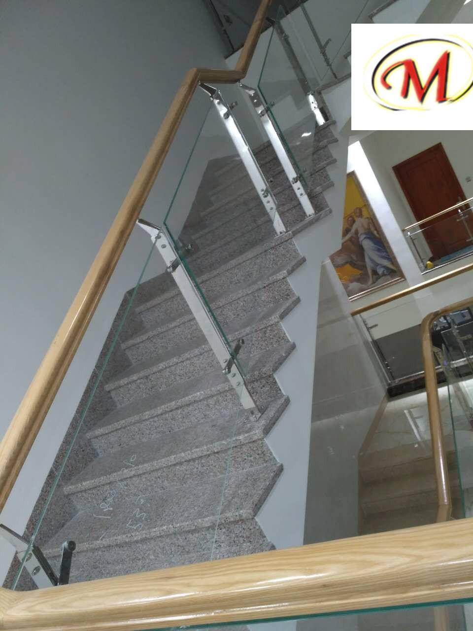 Titanium and Sanding Finish Stainless Steel Stair Railing Pillars