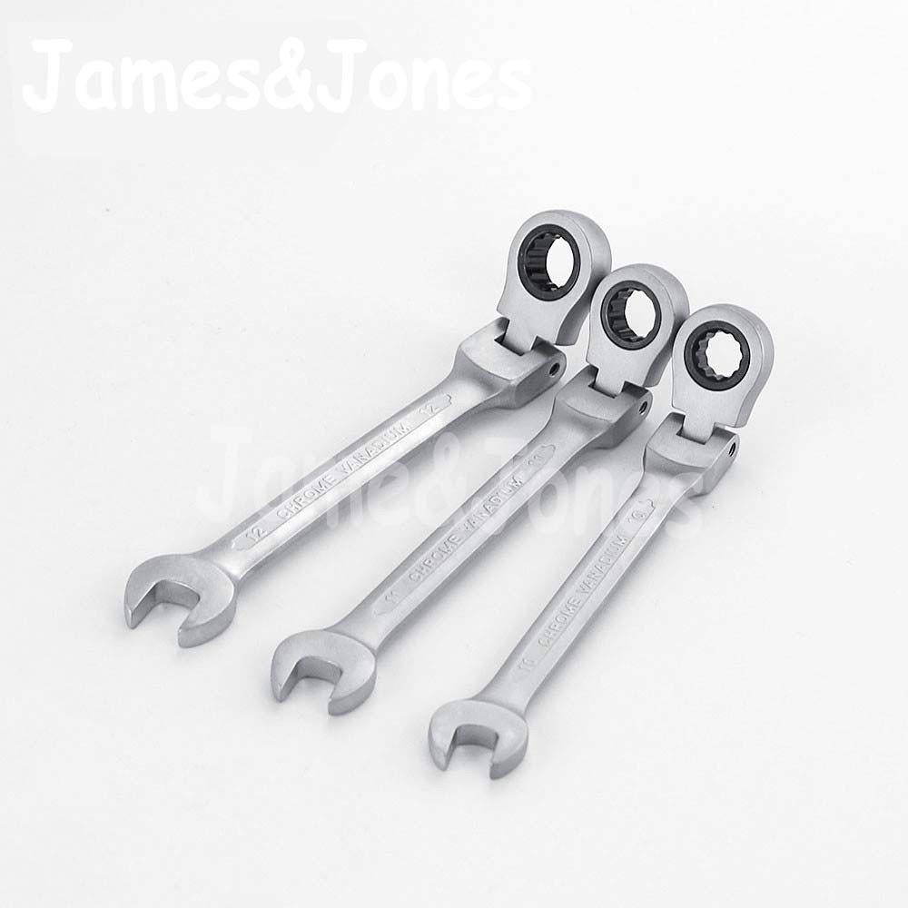 8mm-19mm 72 Teeth Flexible Ratchet CRV Wrench