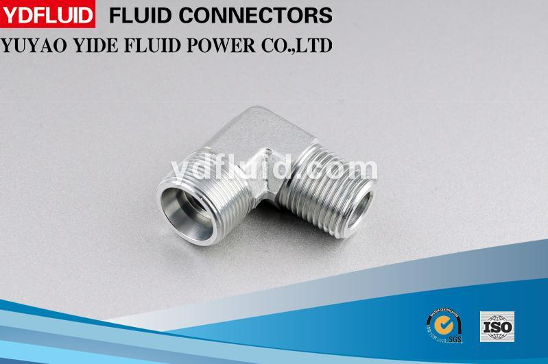 China Supplier Thread Hydraulic Pipe Fittings Stainless Steel 90 Degree Elbow