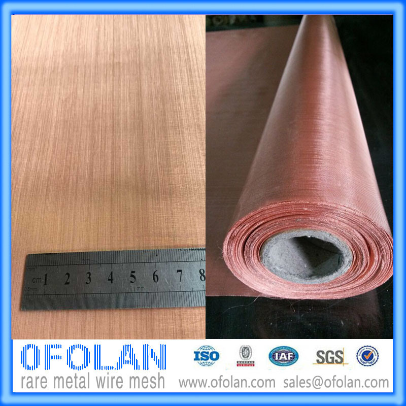 High Quality Electronic Signal Shielding Red Copper Wire Mesh/Cloth Stock Supply