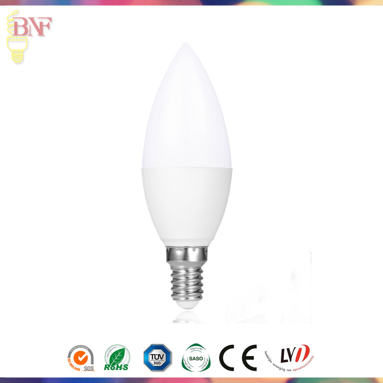 New LED Tail Flameless Candle C35 Glass Lamp Bulb 2W 4W 6W for Energy Saving
