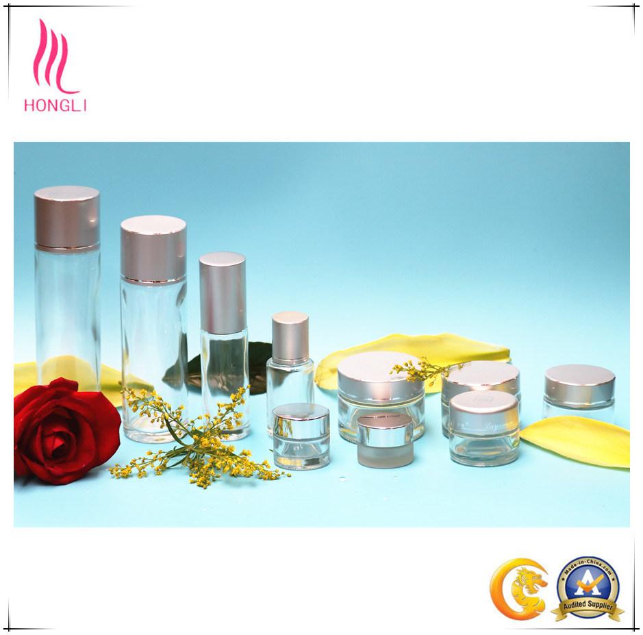 Glass Bottle Cosmetic Bottle Aluminum Cover