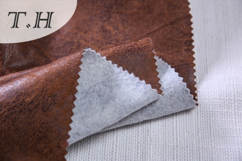 Upholstery Suede Fabric with Hot Stamping (FTX37315)