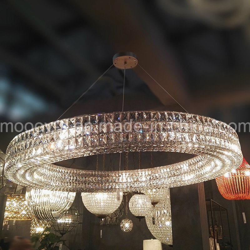 European Luxury Big Circle crystal Egyptian Crystal Chandelier