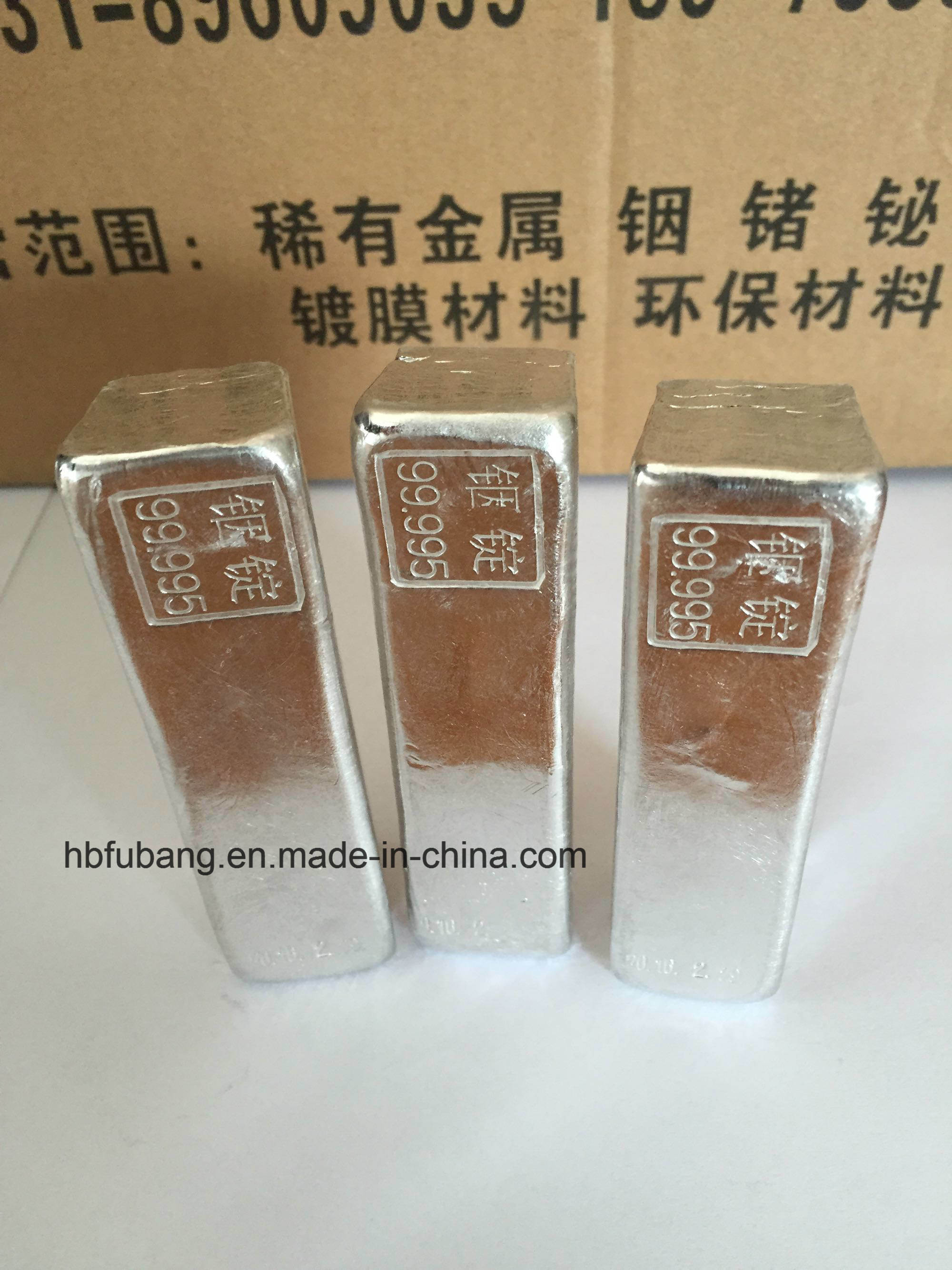 High Purity Indium Ingot 99.99% 99.995% Factory Price