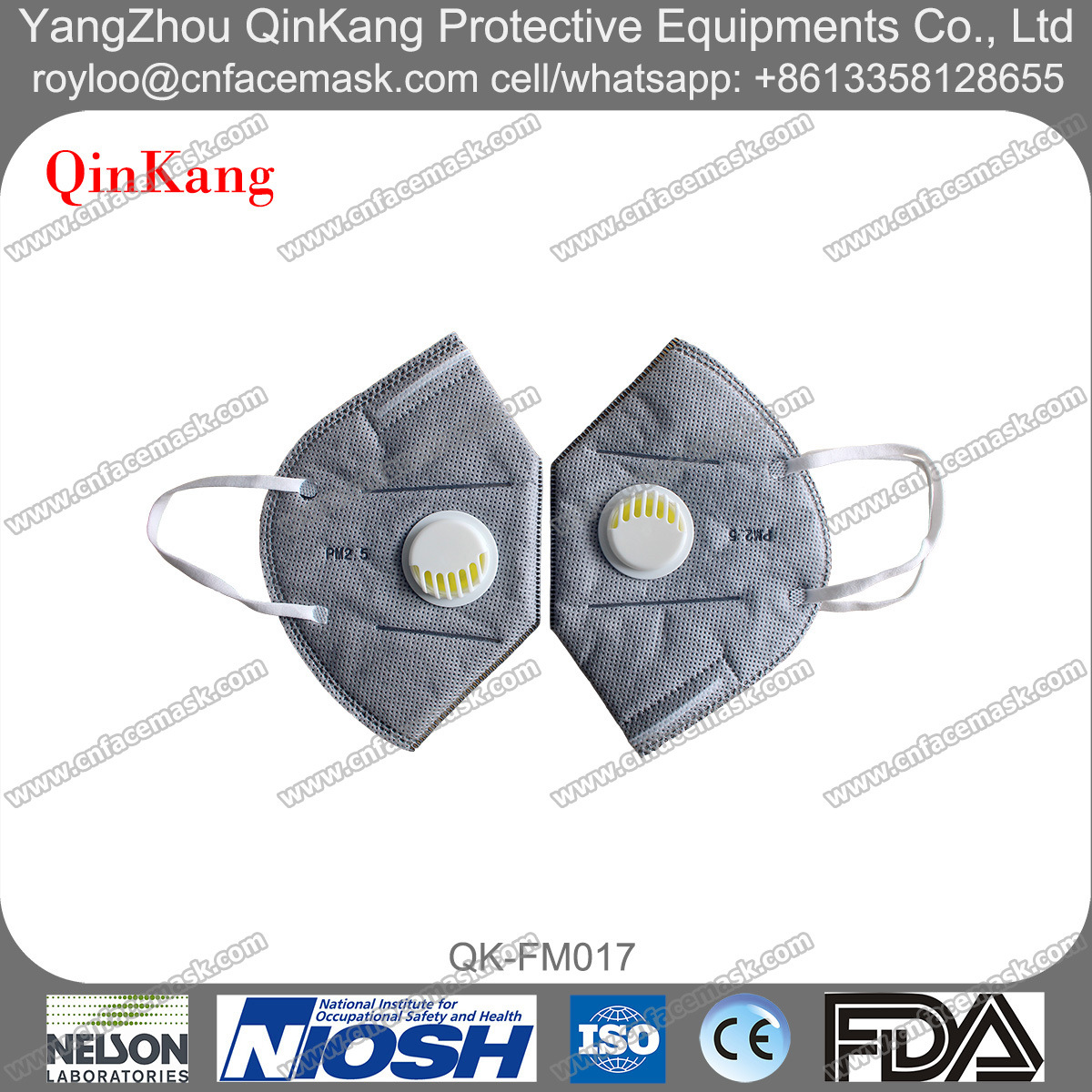 Disposable N95, N99 Dust Protective Respirator with Valve