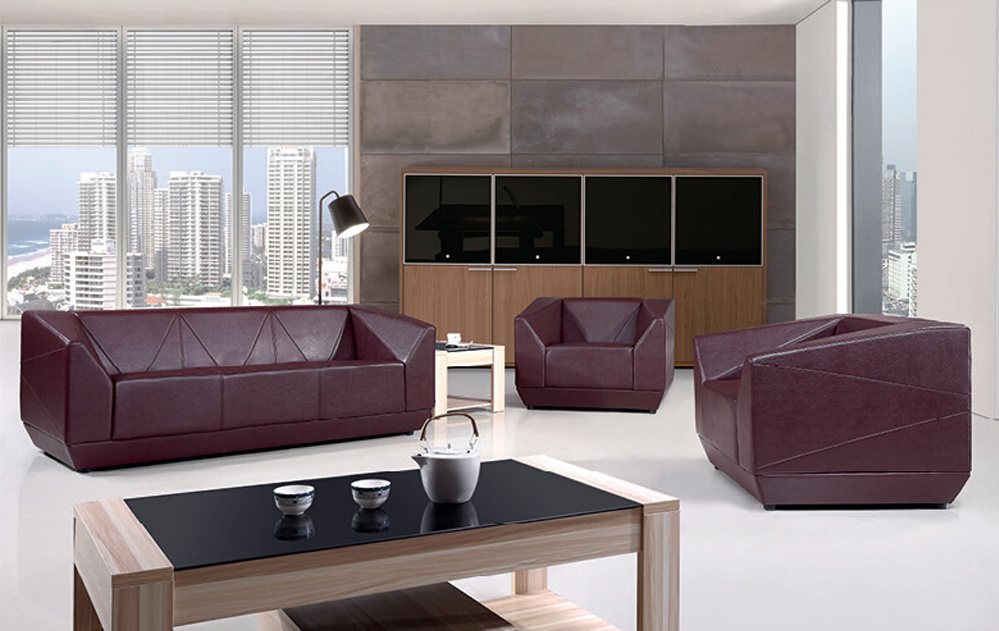 Modern Sofa Furniture Office Sectional Genuine Leather Sofa