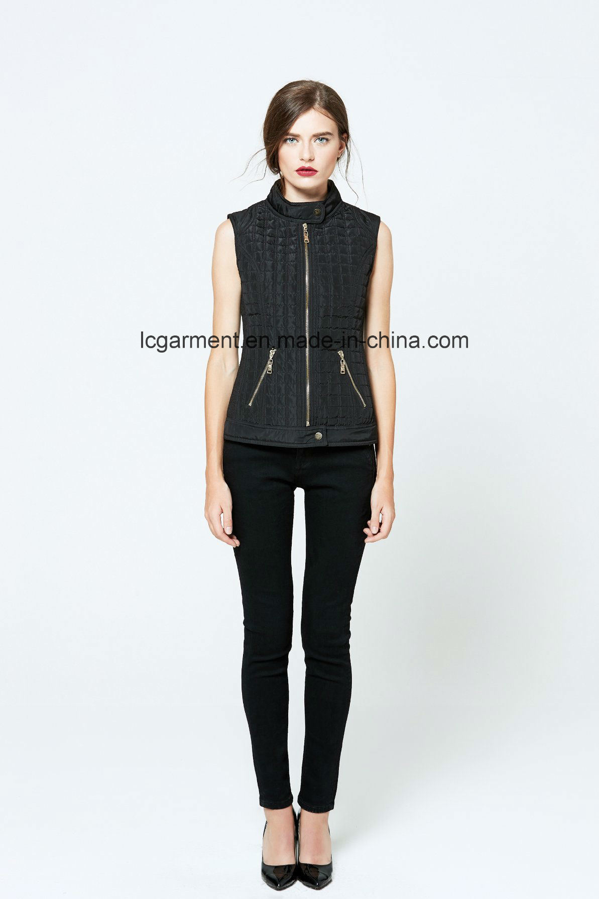 Good Quality Fashion OEM ODM Polyester Vest Winter Ladies Waistcoat