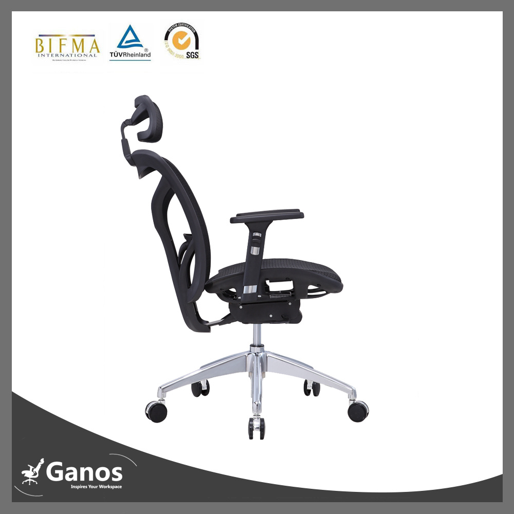 2016 Foshan Best Ergonomic Office Chair Boss Chair with Leather Armrest