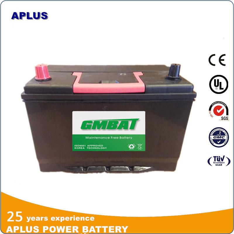 95D31r Nx120-7 12V80ah Mf Lead Acid Batteries for Ghana Market