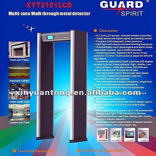High Sensitivity Cheap Price Security Metal Detector Gate (XYT2101LCD)