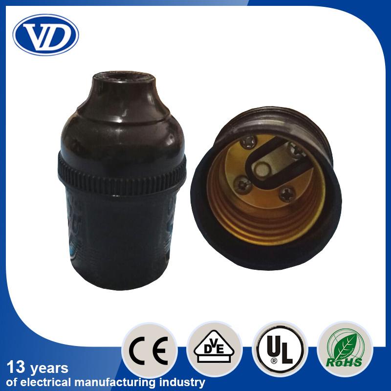 Black E27 Bakelite Electric Lamp Holder