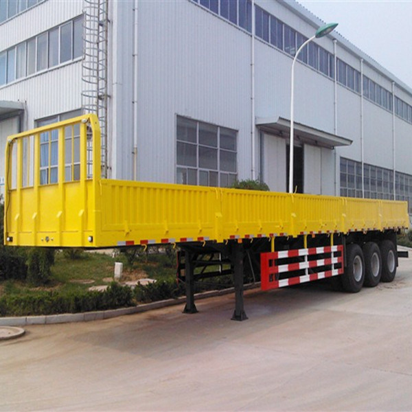 40ft 3 Axle Flat Bed Lorry Cargo Semi Trailer